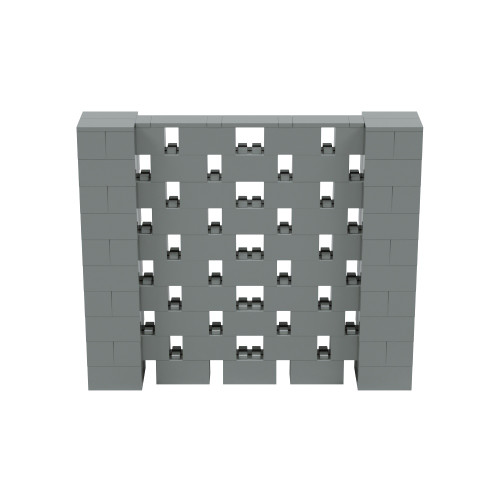 6' x 5' Silver Open Stagger Block Wall Kit