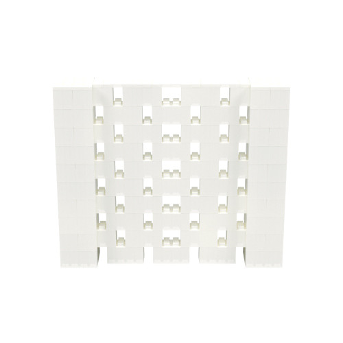 6' x 5' Translucent Open Stagger Block Wall Kit