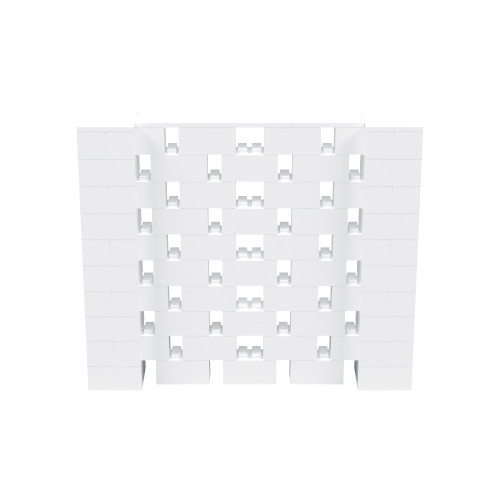 6' x 5' White Open Stagger Block Wall Kit