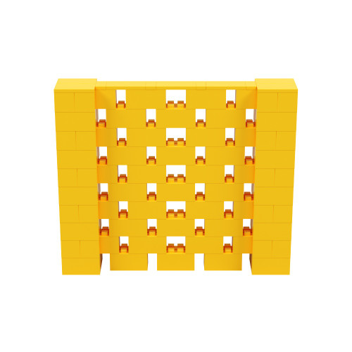 6' x 5' Yellow Open Stagger Block Wall Kit