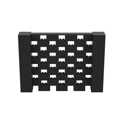 7' x 5' Black Open Stagger Block Wall Kit