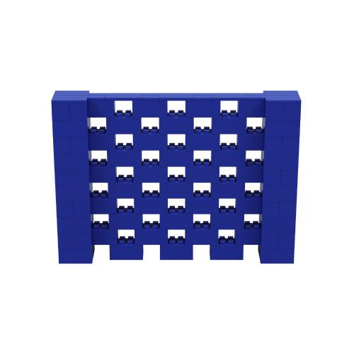 7' x 5' Blue Open Stagger Block Wall Kit