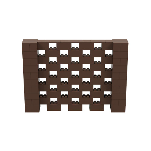 7' x 5' Brown Open Stagger Block Wall Kit