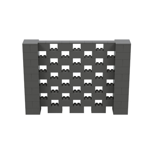 7' x 5' Dark Gray Open Stagger Block Wall Kit