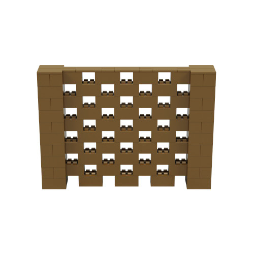 7' x 5' Gold Open Stagger Block Wall Kit