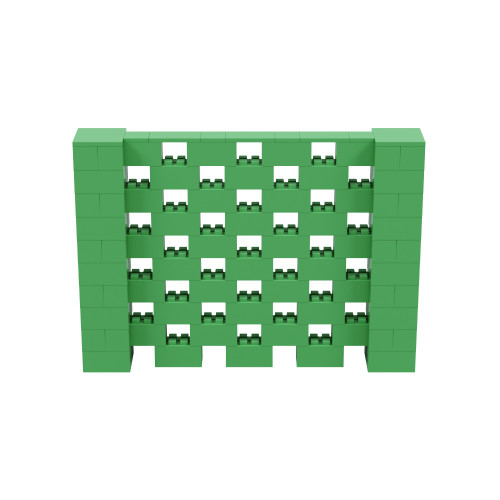 7' x 5' Green Open Stagger Block Wall Kit