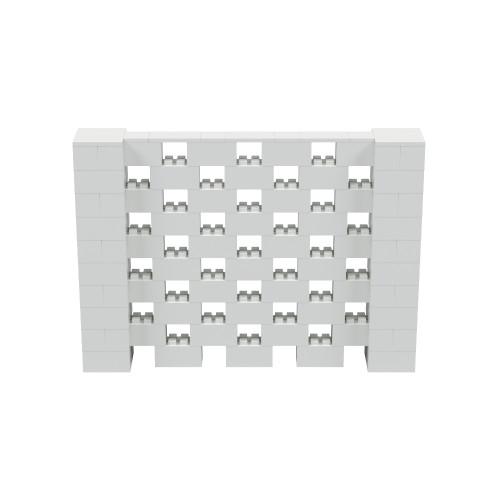 7' x 5' Light Gray Open Stagger Block Wall Kit