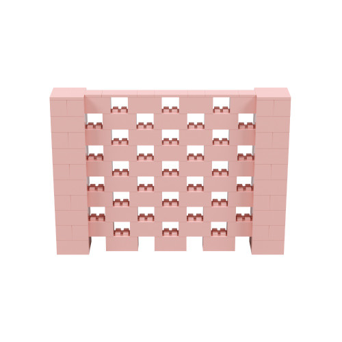 7' x 5' Pink Open Stagger Block Wall Kit