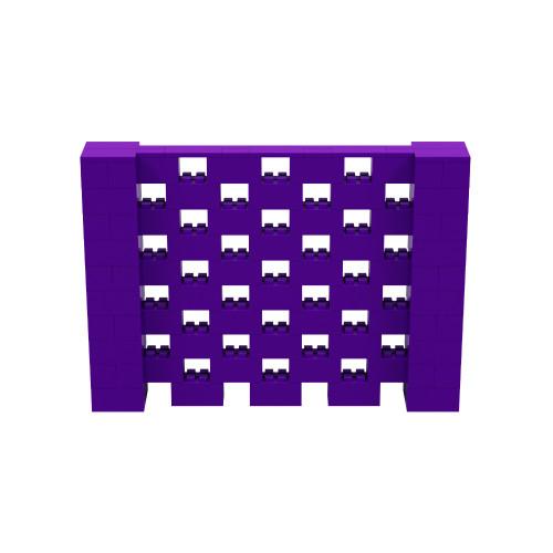 7' x 5' Purple Open Stagger Block Wall Kit