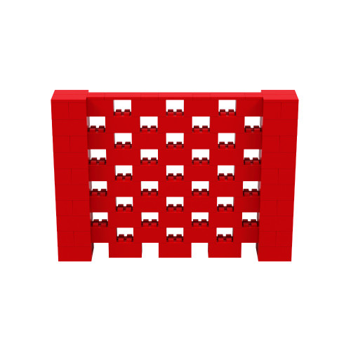 7' x 5' Red Open Stagger Block Wall Kit