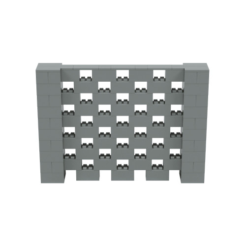 7' x 5' Silver Open Stagger Block Wall Kit
