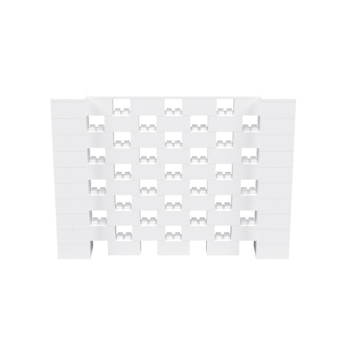 7' x 5' White Open Stagger Block Wall Kit