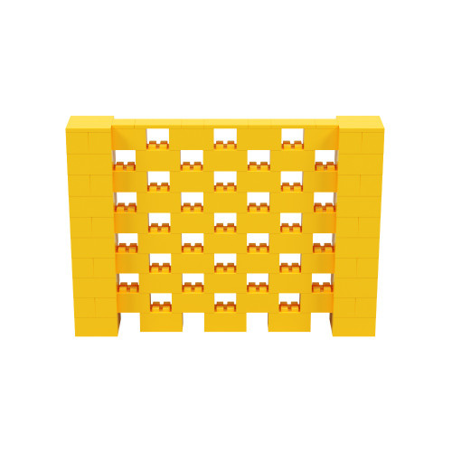 7' x 5' Yellow Open Stagger Block Wall Kit