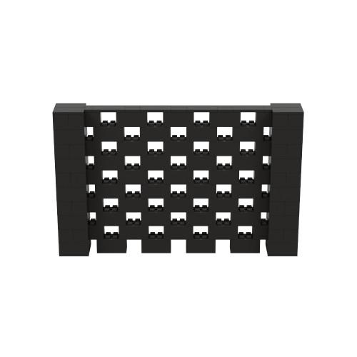 8' x 5' Black Open Stagger Block Wall Kit