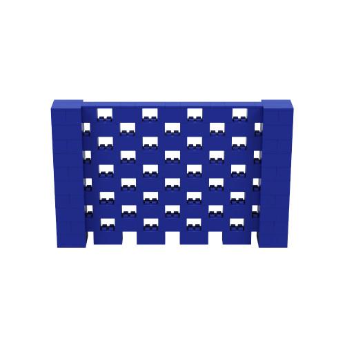 8' x 5' Blue Open Stagger Block Wall Kit