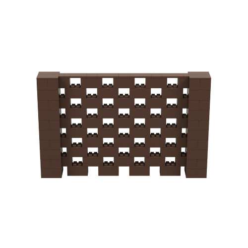8' x 5' Brown Open Stagger Block Wall Kit