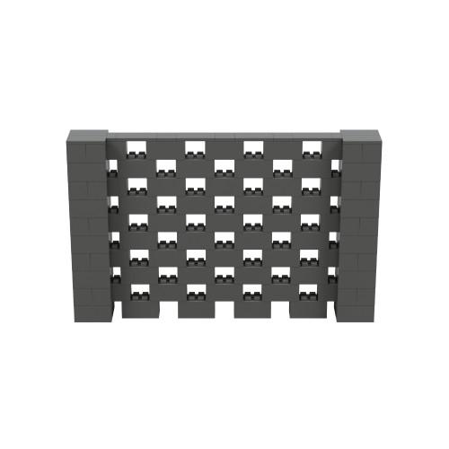8' x 5' Dark Gray Open Stagger Block Wall Kit