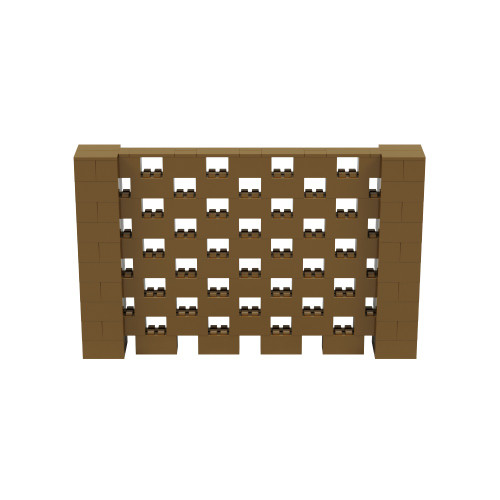 8' x 5' Gold Open Stagger Block Wall Kit