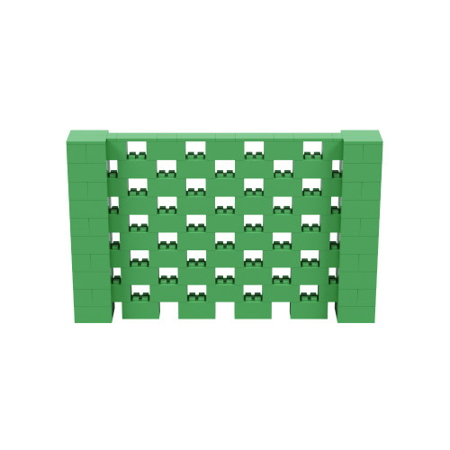 8' x 5' Green Open Stagger Block Wall Kit