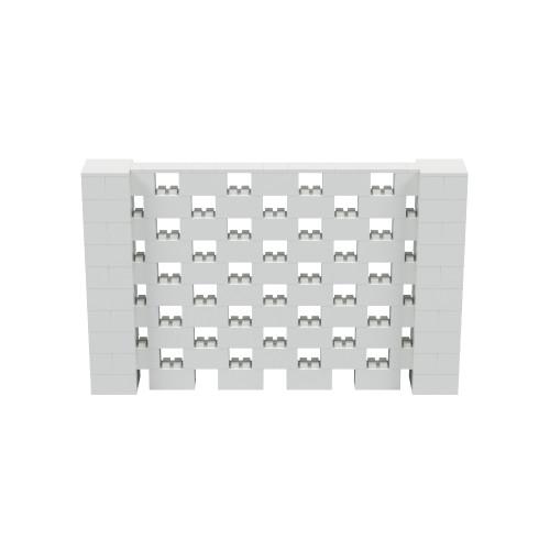 8' x 5' Light Gray Open Stagger Block Wall Kit