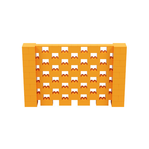 8' x 5' Orange Open Stagger Block Wall Kit