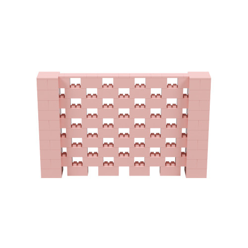 8' x 5' Pink Open Stagger Block Wall Kit