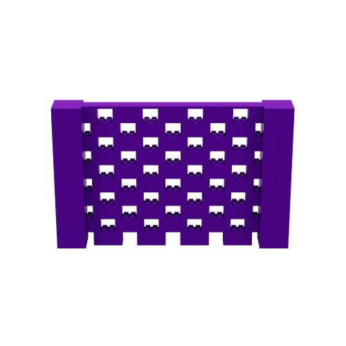 8' x 5' Purple Open Stagger Block Wall Kit