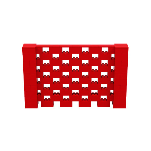8' x 5' Red Open Stagger Block Wall Kit