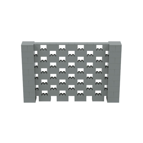 8' x 5' Silver Open Stagger Block Wall Kit