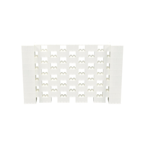 8' x 5' Translucent Open Stagger Block Wall Kit
