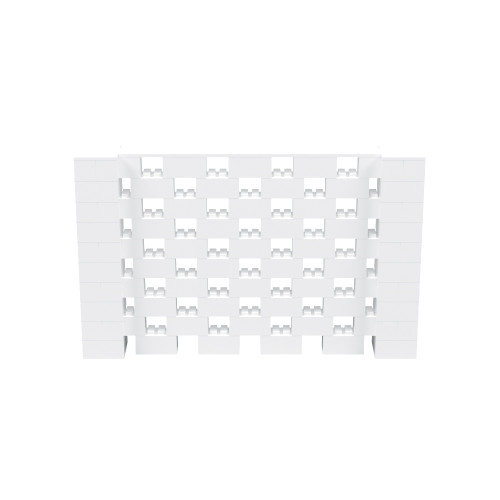 8' x 5' White Open Stagger Block Wall Kit
