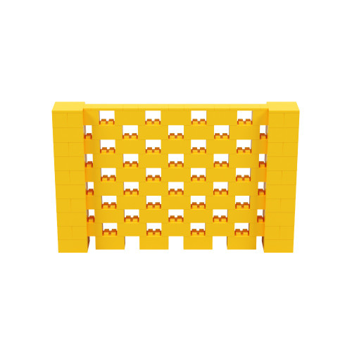 8' x 5' Yellow Open Stagger Block Wall Kit