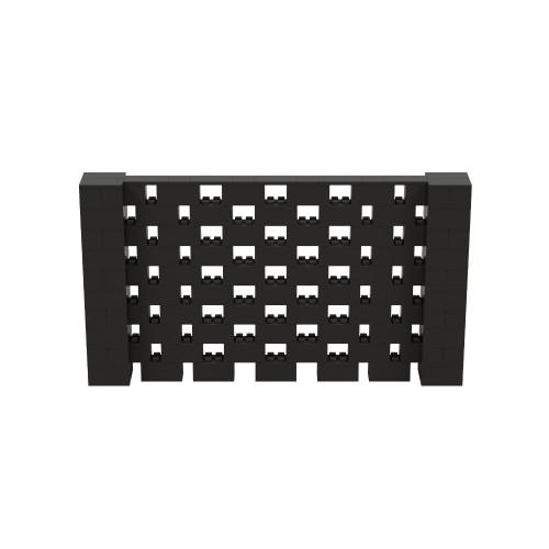 9' x 5' Black Open Stagger Block Wall Kit
