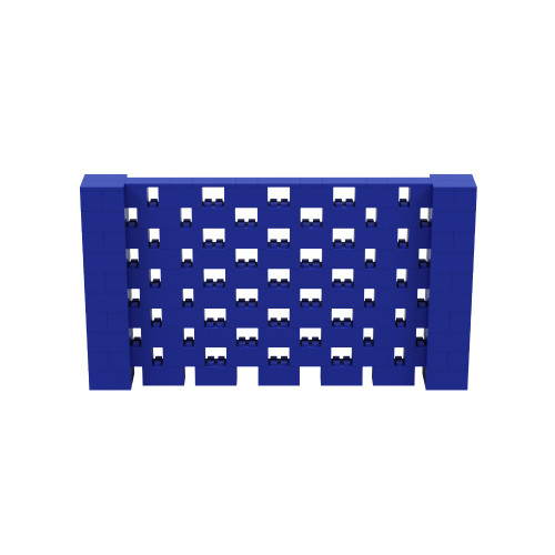 9' x 5' Blue Open Stagger Block Wall Kit