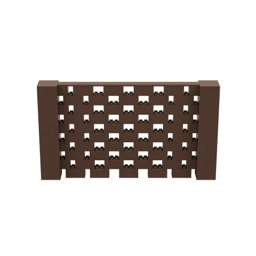 9' x 5' Brown Open Stagger Block Wall Kit