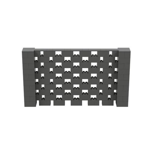 9' x 5' Dark Gray Open Stagger Block Wall Kit