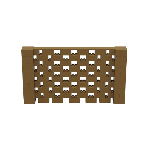 9' x 5' Gold Open Stagger Block Wall Kit