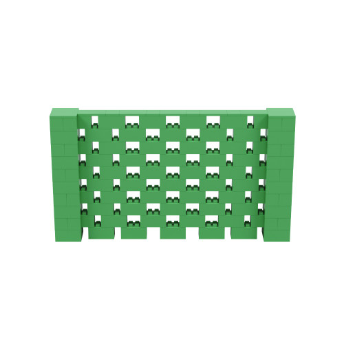 9' x 5' Green Open Stagger Block Wall Kit