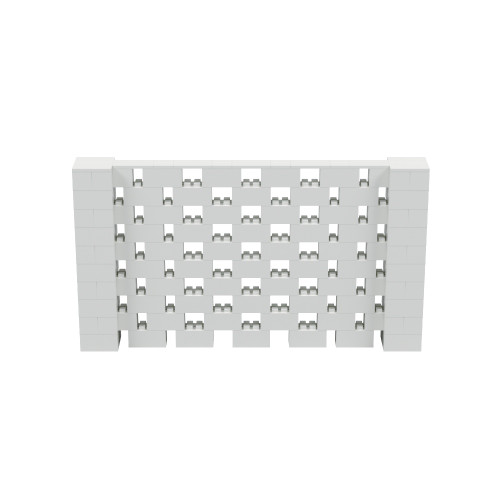 9' x 5' Light Gray Open Stagger Block Wall Kit