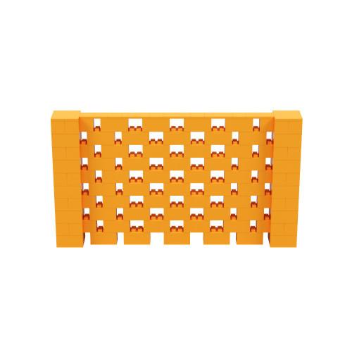 9' x 5' Orange Open Stagger Block Wall Kit