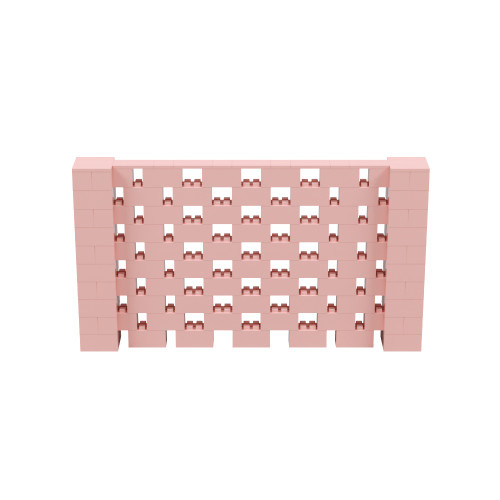 9' x 5' Pink Open Stagger Block Wall Kit