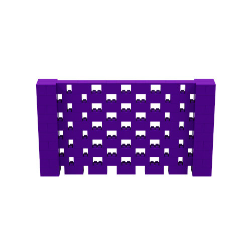 9' x 5' Purple Open Stagger Block Wall Kit