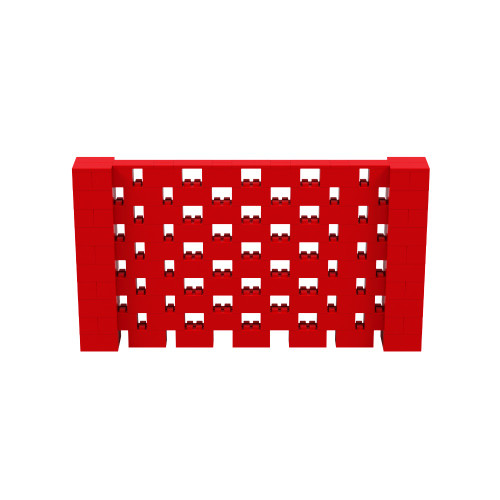 9' x 5' Red Open Stagger Block Wall Kit