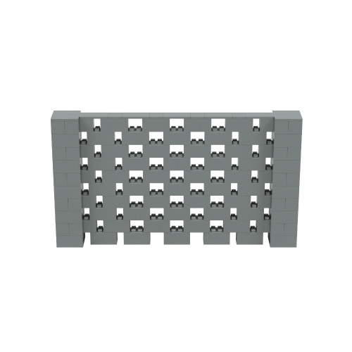 9' x 5' Silver Open Stagger Block Wall Kit