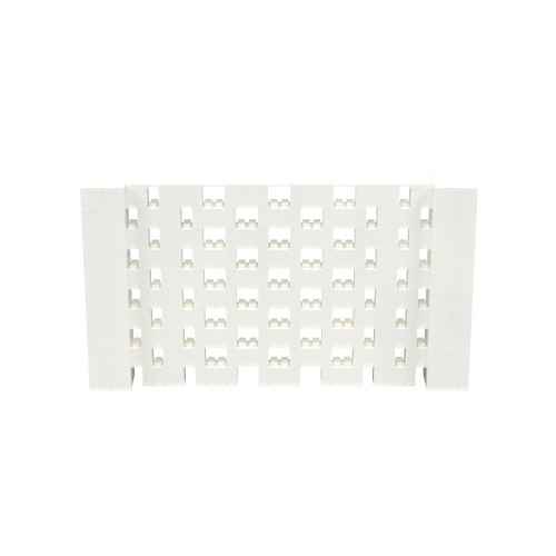 9' x 5' Translucent Open Stagger Block Wall Kit