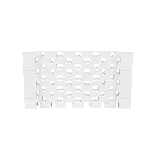 9' x 5' White Open Stagger Block Wall Kit