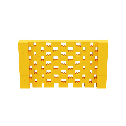 9' x 5' Yellow Open Stagger Block Wall Kit