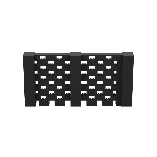 10' x 5' Black Open Stagger Block Wall Kit