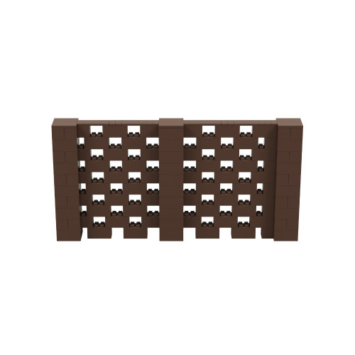 10' x 5' Brown Open Stagger Block Wall Kit