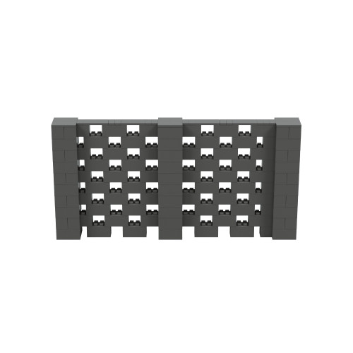 10' x 5' Dark Gray Open Stagger Block Wall Kit